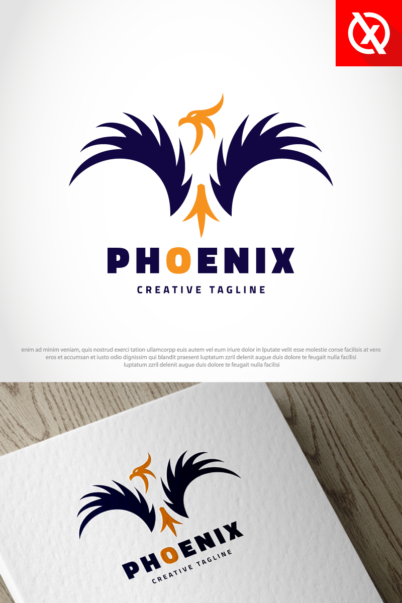 Szablon Logo Phoenix Bird #87353