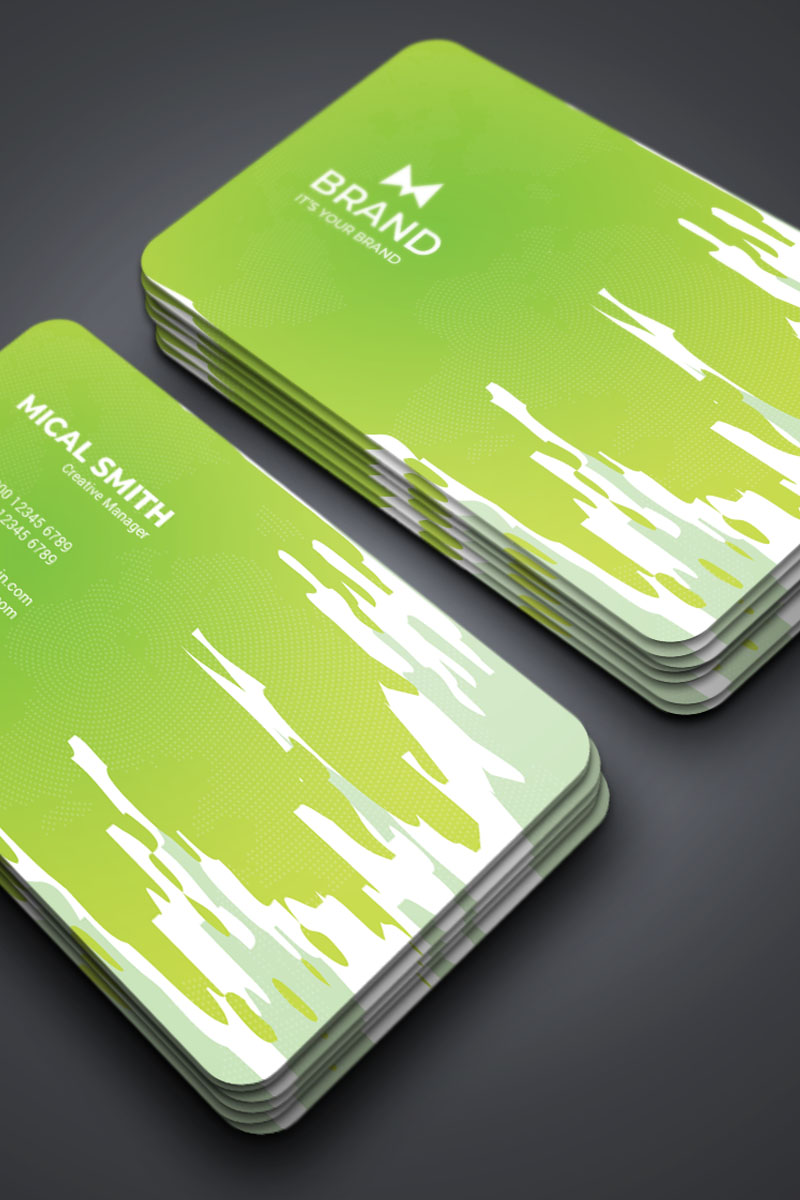 """Unternehmensidentität Vorlage namens """"Brand - Business Card"""" #87310"""