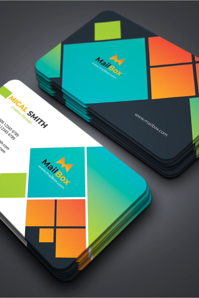 """Unternehmensidentität Vorlage namens """"Mailbox - Business Card templste"""" #87309"""