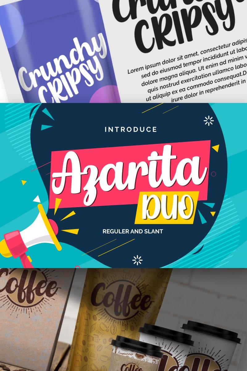 Azarita Duo | Regular & Slant Font #87459