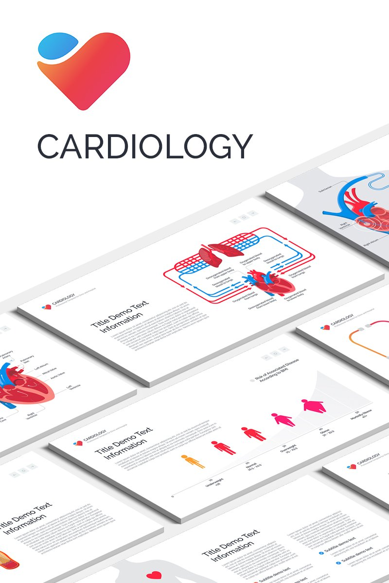 """Cardiology"" Keynote Template №87436"