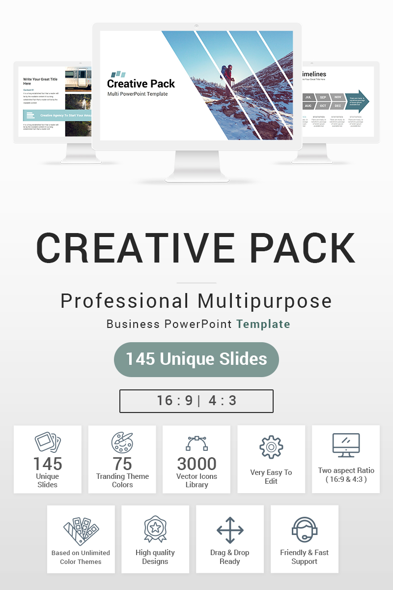 Creative Pack Template PowerPoint №87409