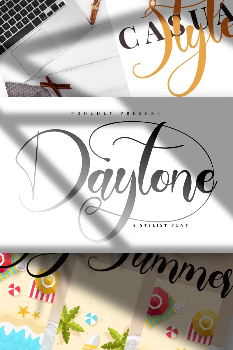 """Daytone | Stylist Script"" police de caractère  #87453"