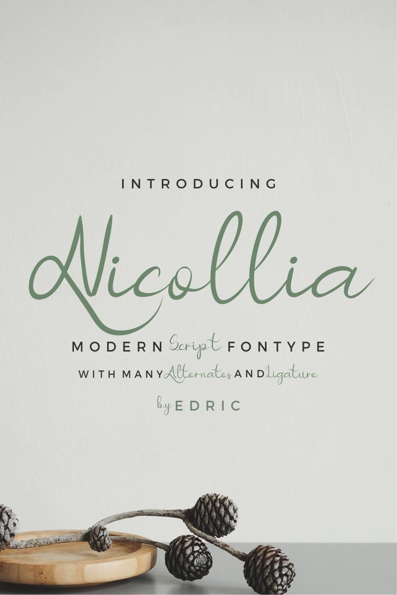 "Font ""Nicollia"" #87423"