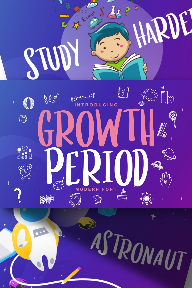 Growth Period | Kids Modern Font #87448