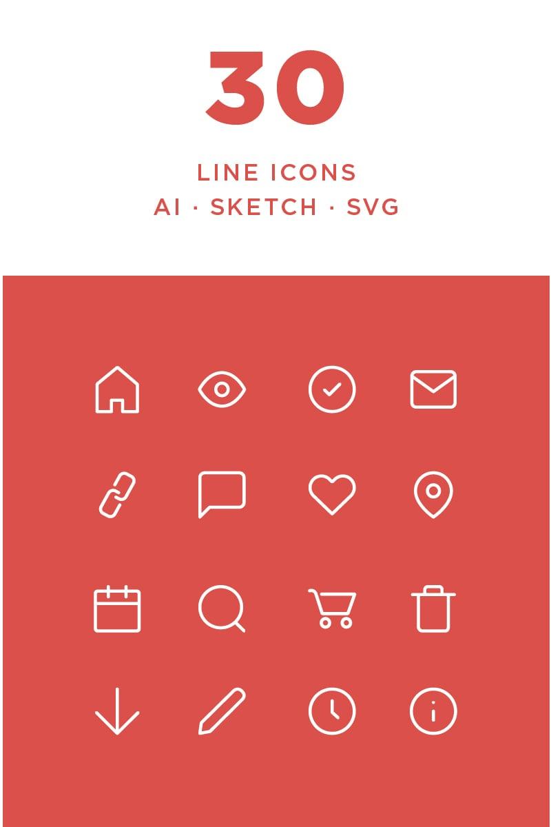 "Iconset šablona ""Simple Line"" #87440"