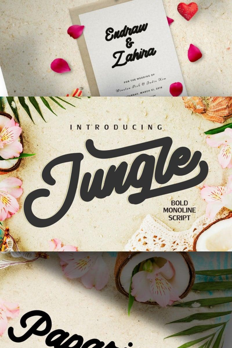 Jungle | Monoline Bold Script Font #87426