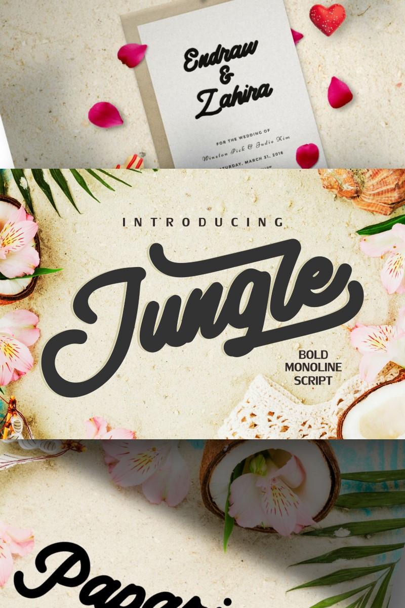 """Jungle | Monoline Bold Script"" Lettertype №87426"