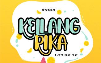 Kellang Rika   Cute Sans Font