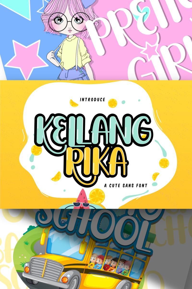 """Kellang Rika | Cute Sans"" Lettertype №87450"