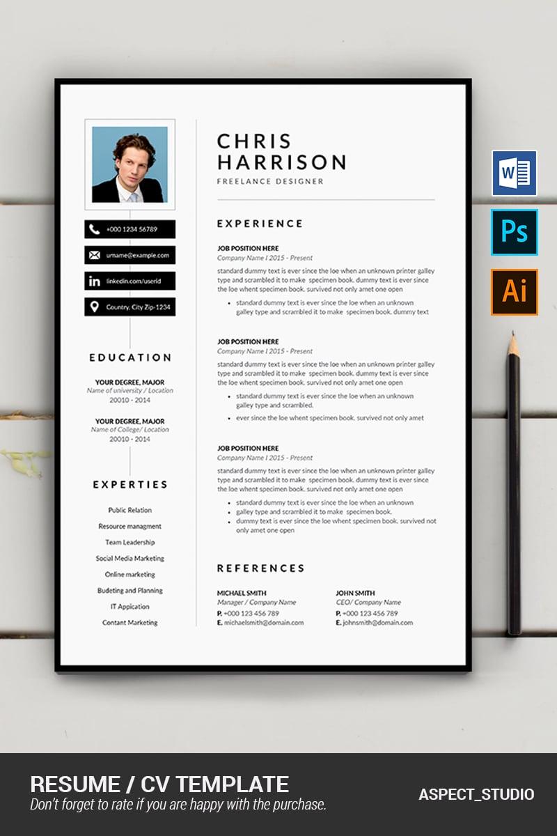 "Lebenslauf-Vorlage namens ""Chris Harrison"" #87410"