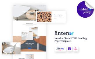 Lintense Furniture Design - Interior Clean HTML Landing Page Template