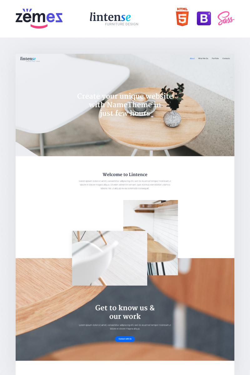 """Lintense Furniture Design - Interior Clean HTML"" Responsive Landingspagina Template №87486 - screenshot"