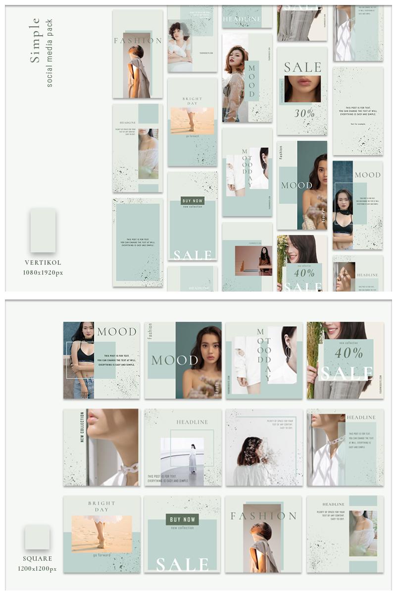 Media społecznościowe Simple - Pack #87464