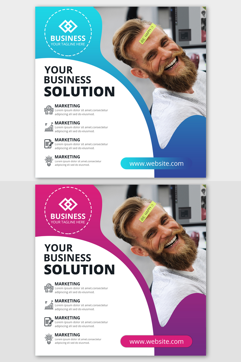 "Medios Sociales ""Business Instagram Post Banners"" #87419"
