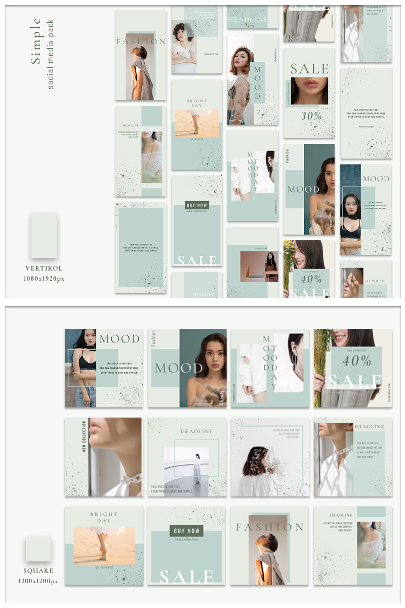 """Medios Sociales """"Simple - Pack"""" #87464"""