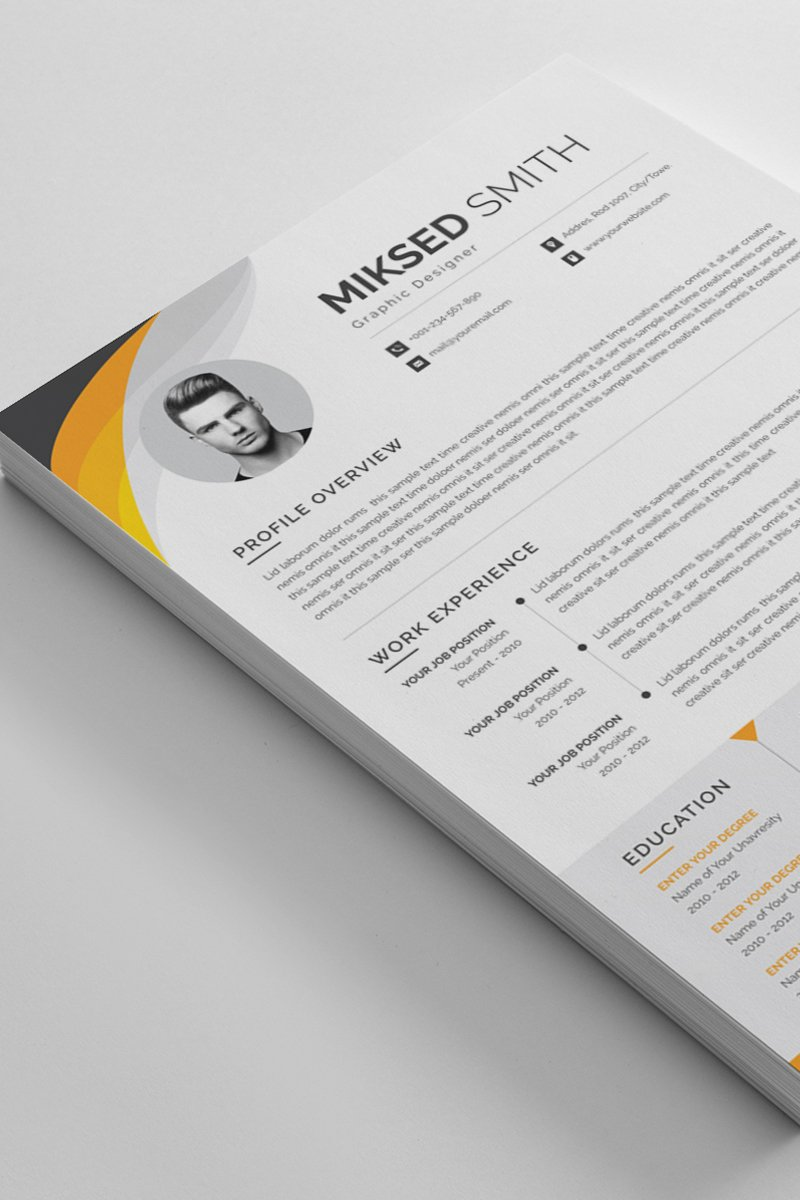 Miksed Smith Word Resume Template