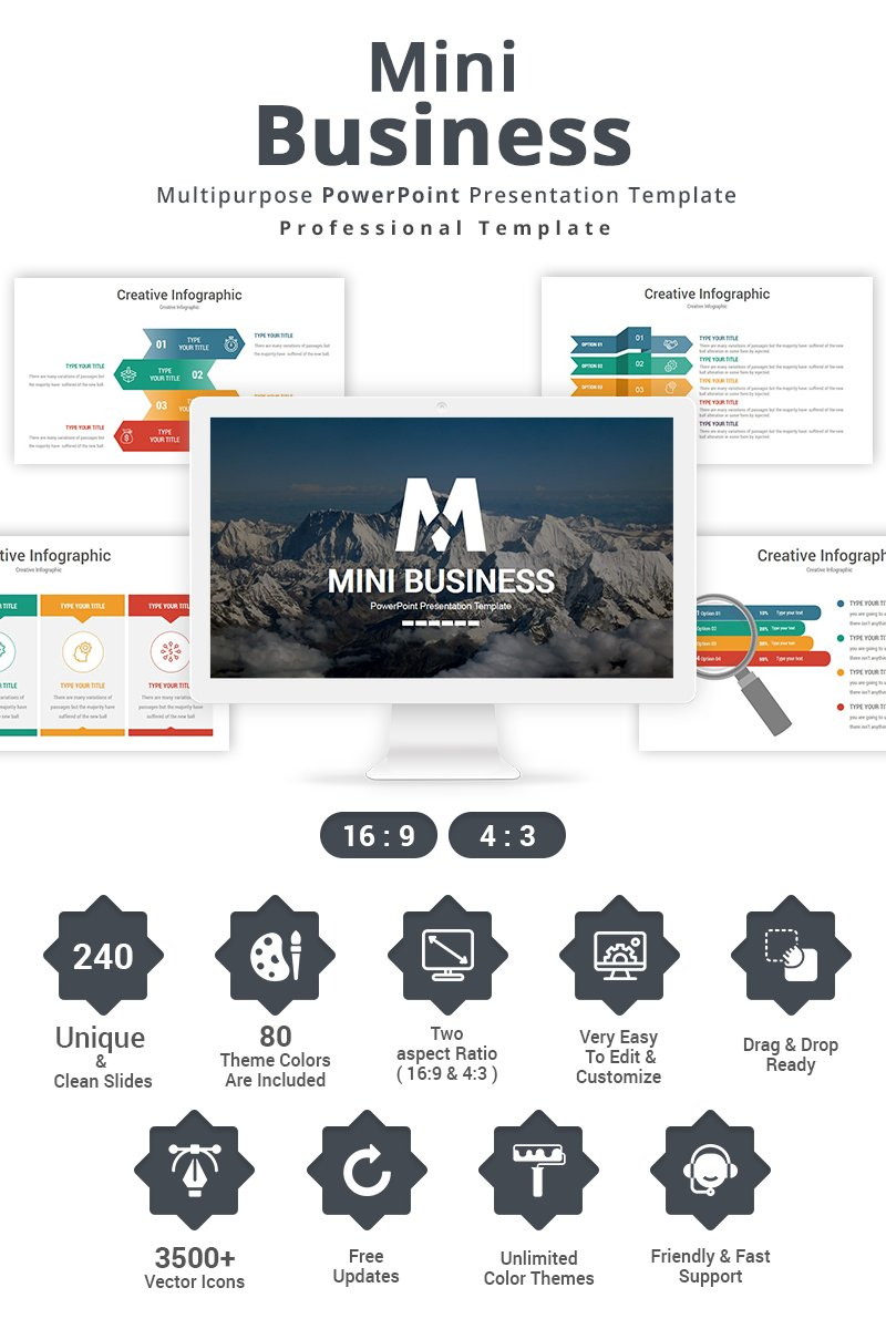 Mini Business Template PowerPoint №87431