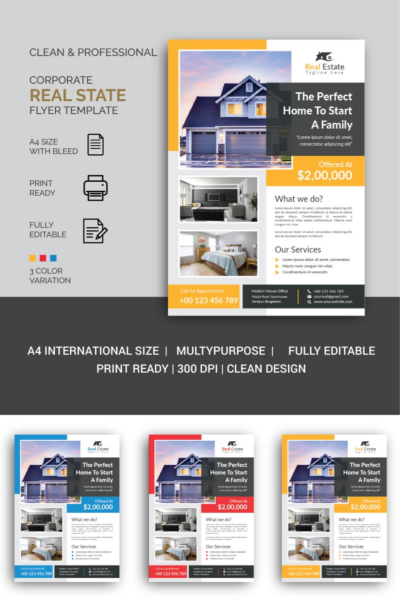"""Modern Real State Flyer"" design d'Entreprise  #87483"