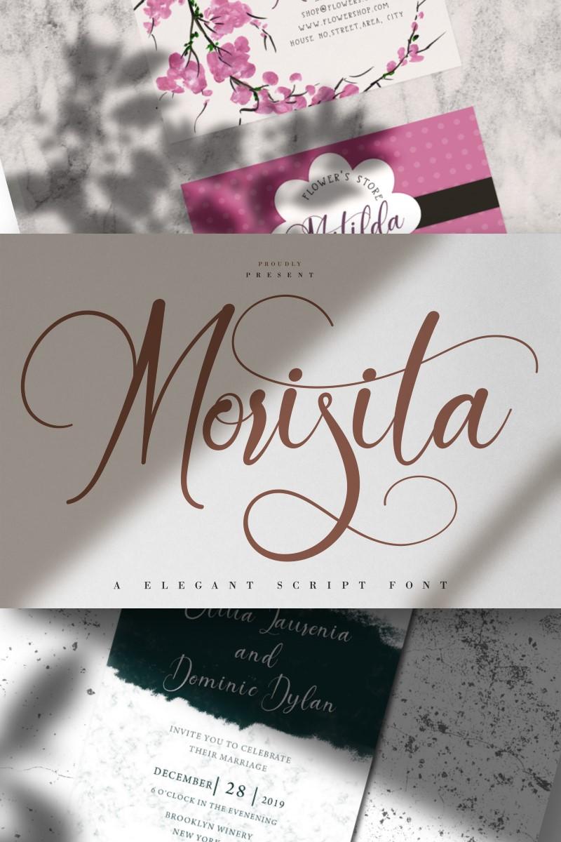 Morisita   Elegant Script Betűtípus 87455