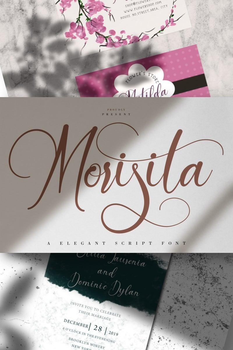 Morisita | Elegant Script Fonte №87455