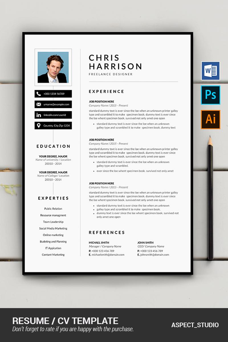 "Plantilla De CV ""Chris Harrison"" #87410"