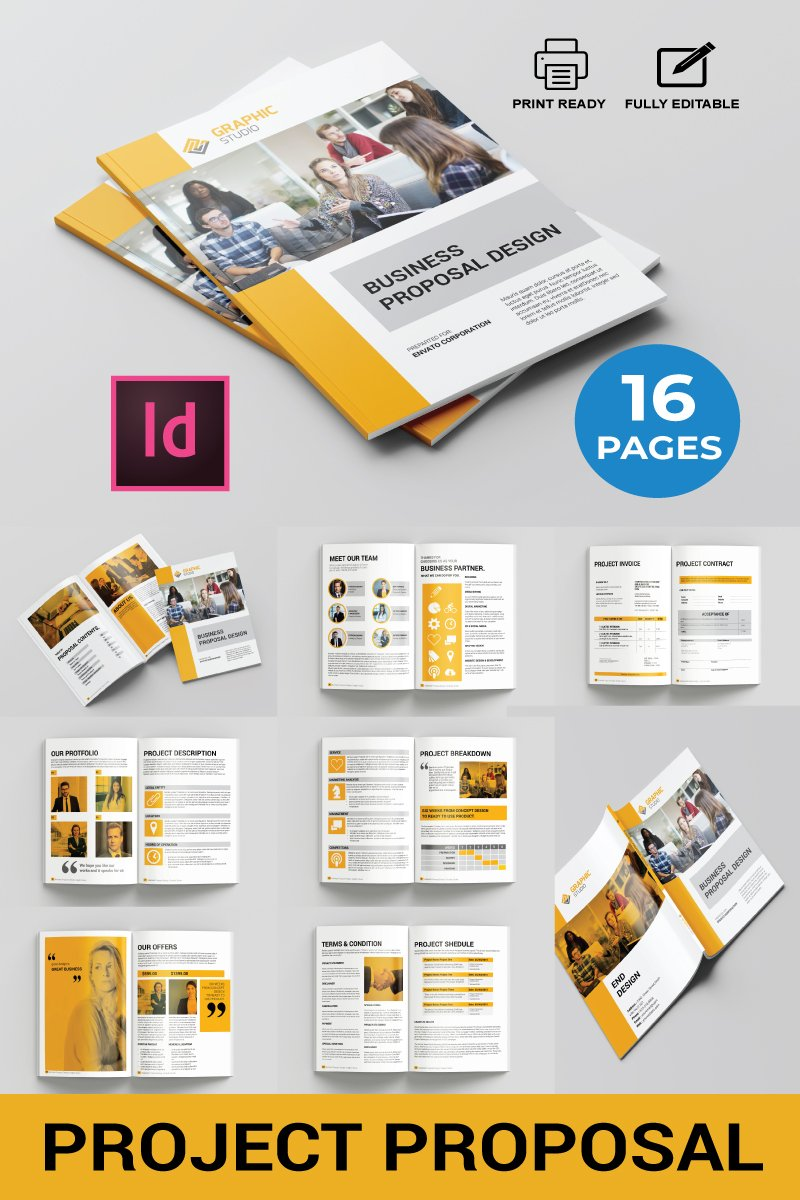 "Plantilla De Identidad Corporativa ""Business Proposal Design"" #87465"