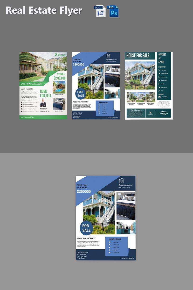 """Plantilla De Identidad Corporativa """"Sistec Real Estate Flyer"""" #87473"""