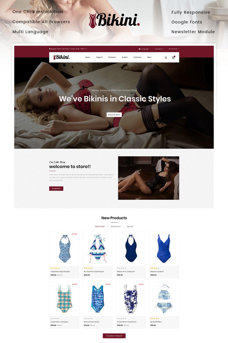 "Plantilla OpenCart ""Bikini - Lingerie Store"" #87444"