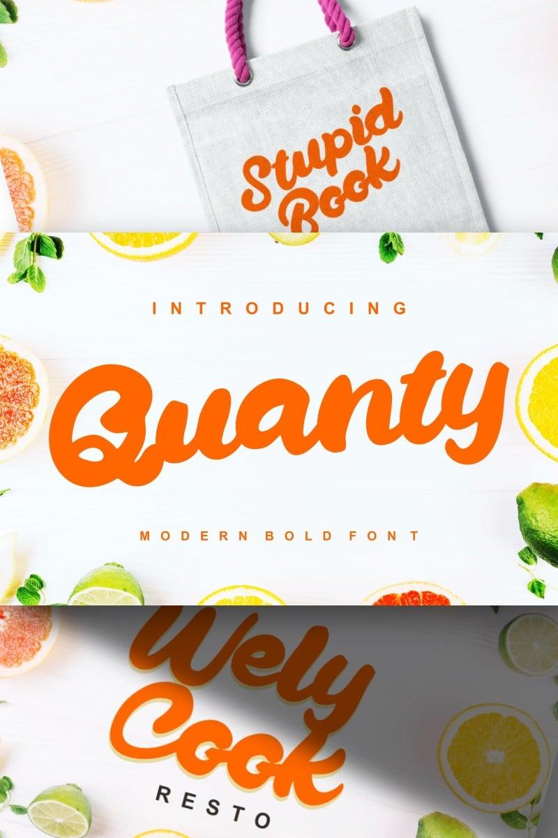 Quanty | Modern Script Bold Font