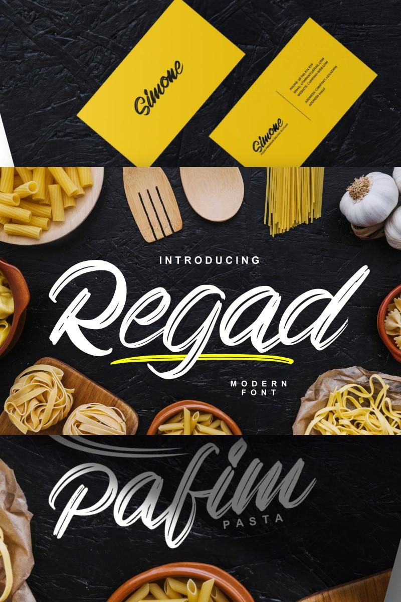 """Regad | Modern Food"" Lettertype №87458"