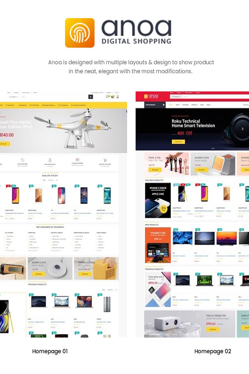 "Responzivní PrestaShop motiv ""Anoa Supermarket"" #87447 - screenshot"