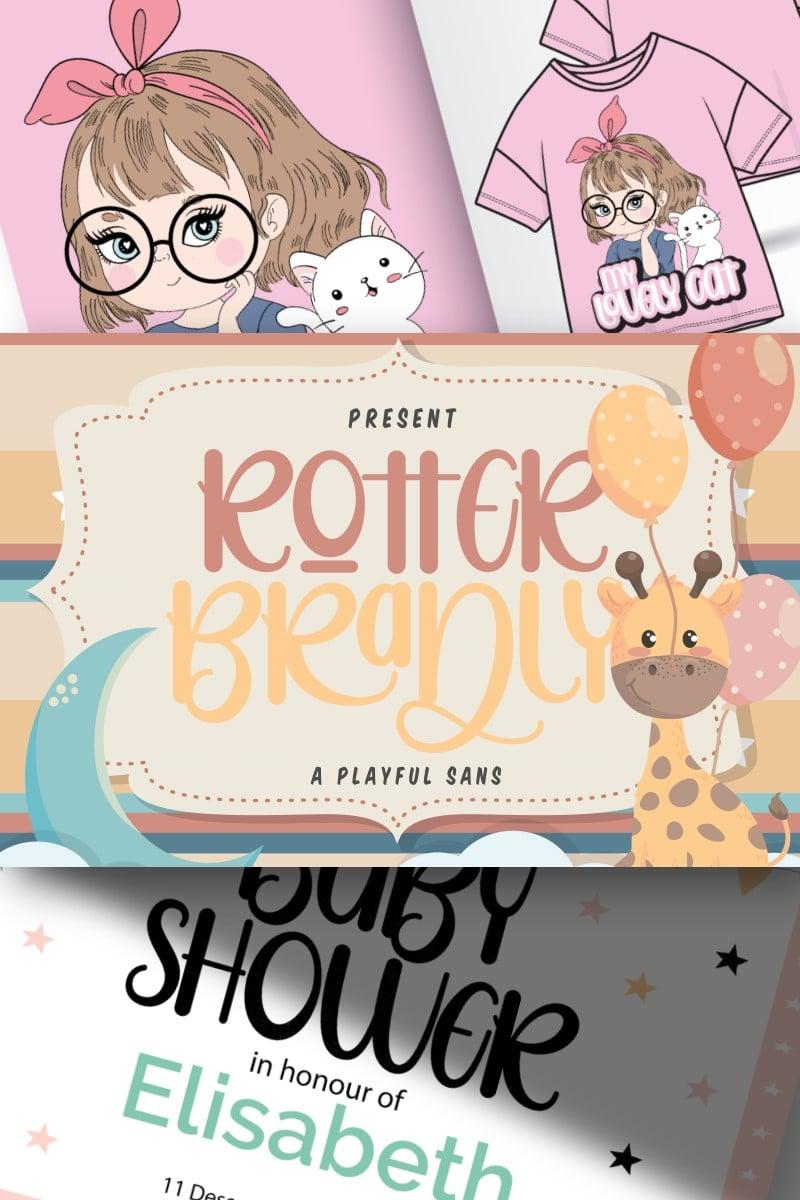 """Rotter Bradly | A Playful Sans"" Lettertype №87449"
