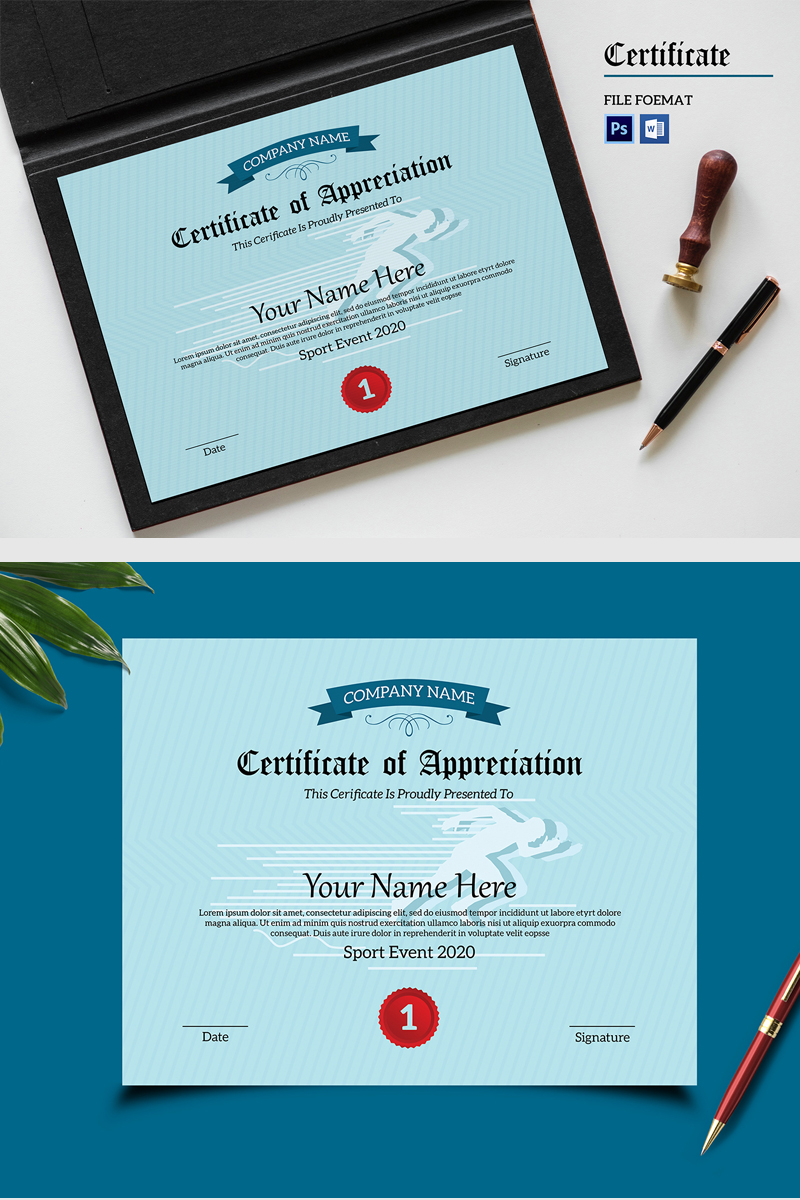 """Sistec Appreciation"" modèle de certificat  #87441"