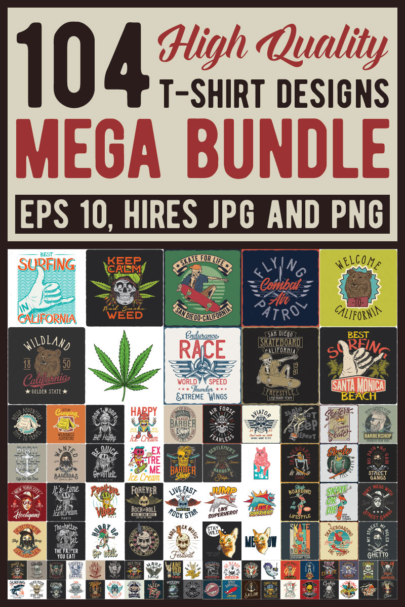 "T-shirt namens ""Mega Bundle"" #87439"