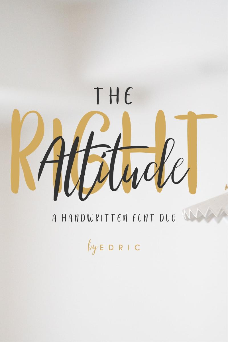 """Template Font #87421 """"The Right Attitude"""""""