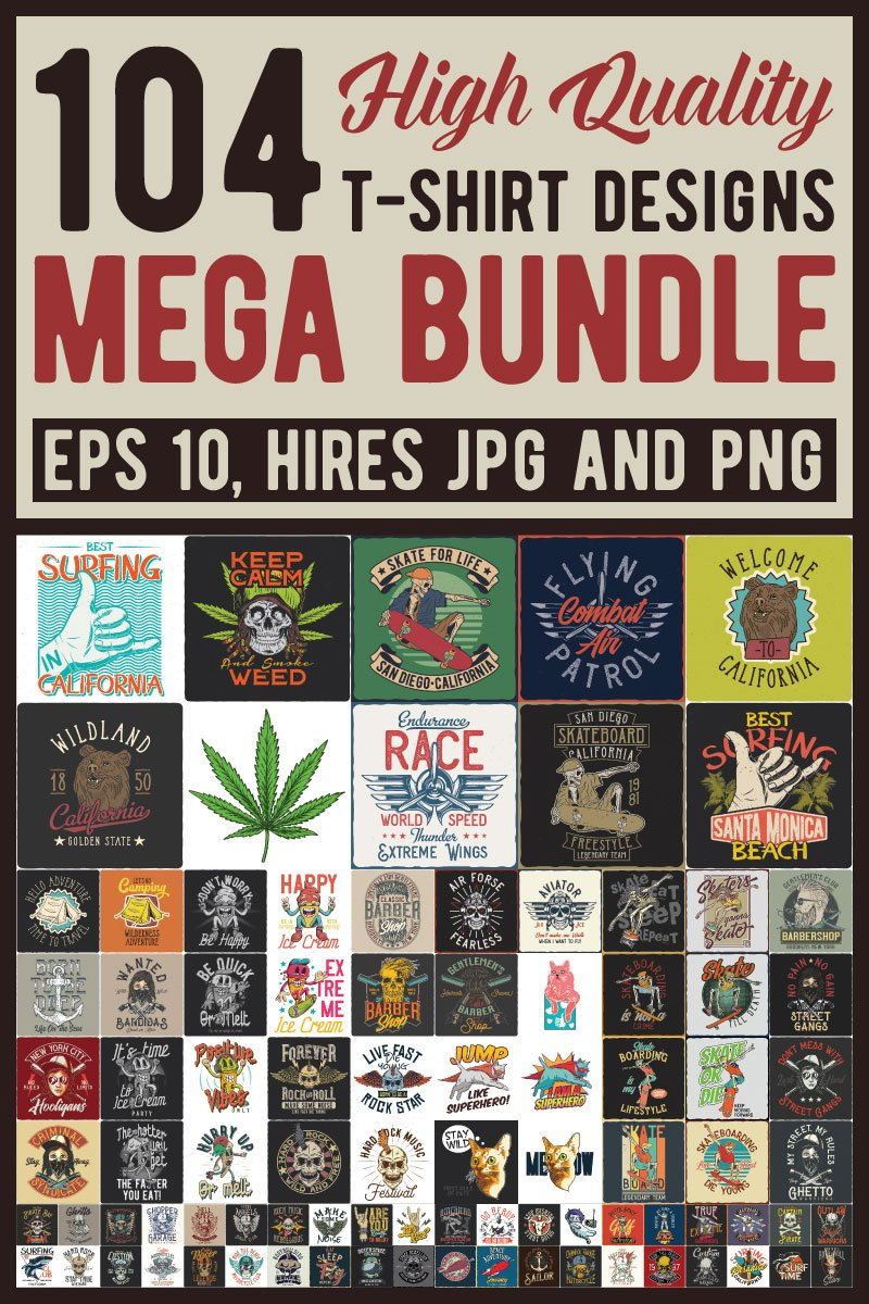 "Template T-shirt #87439 ""Mega Bundle"""