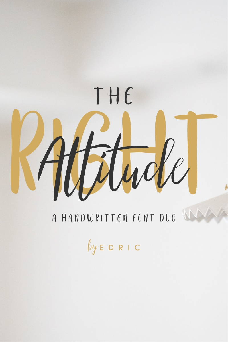 """The Right Attitude"" Lettertype №87421"