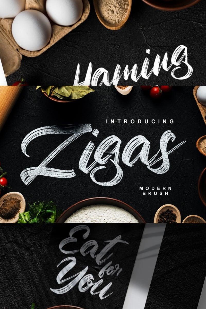 Zigas | Modern Brush Font