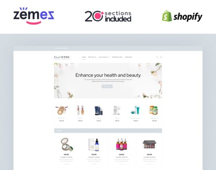 Curesse - Spa Cosmetics Store Shopify Theme