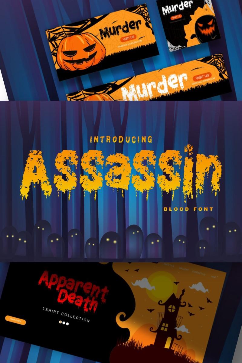 Assassin | Decorative Blood Font