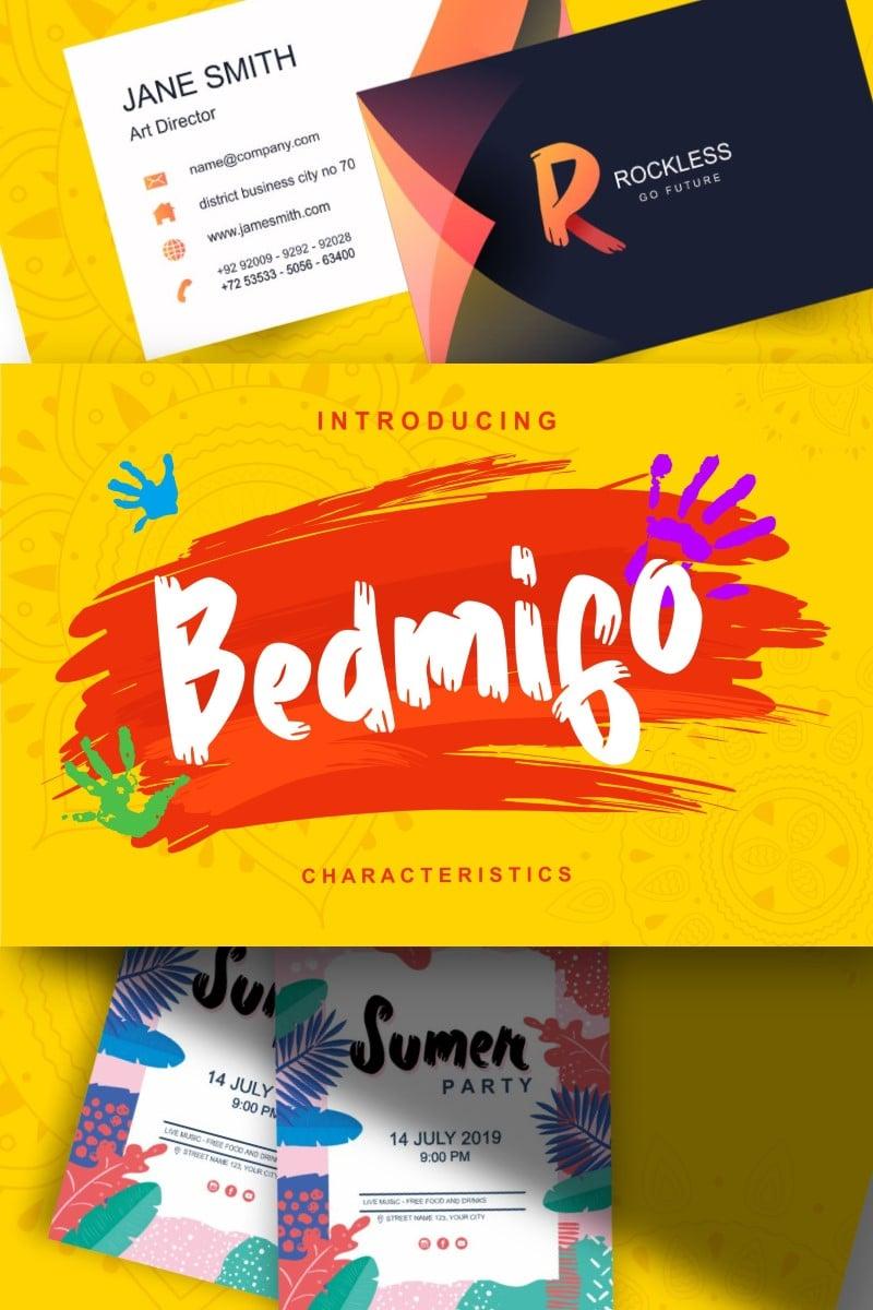 Bedmifo   Characteristics Script Betűtípus 87581