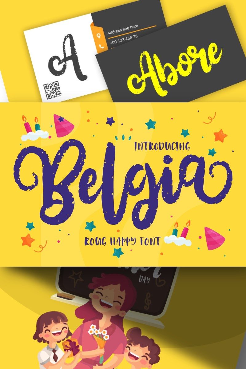 Font Belgia | Decorative Happy #87585