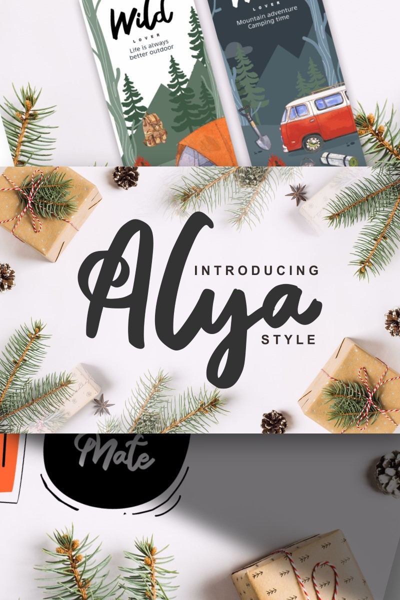 "Fuente ""Alya | Brush Style"" #87583"
