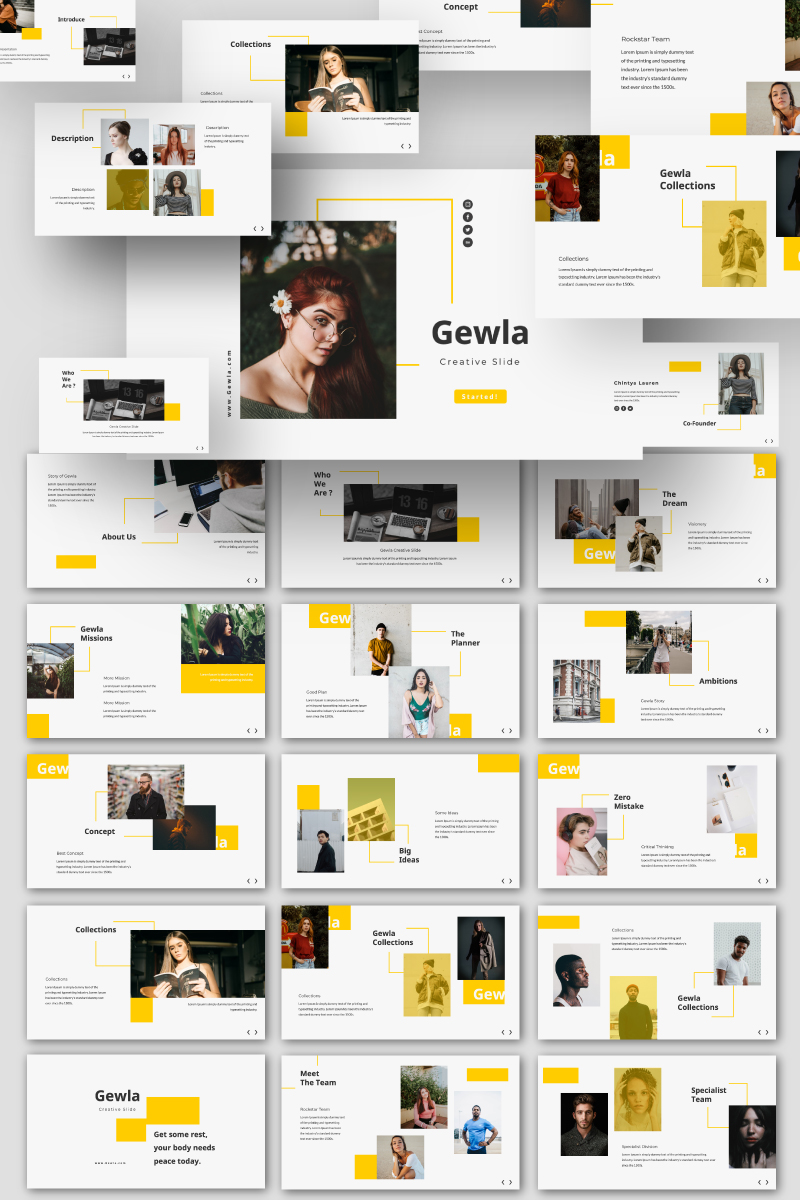 """Gewla Creative Business"" PowerPoint Template №87593"