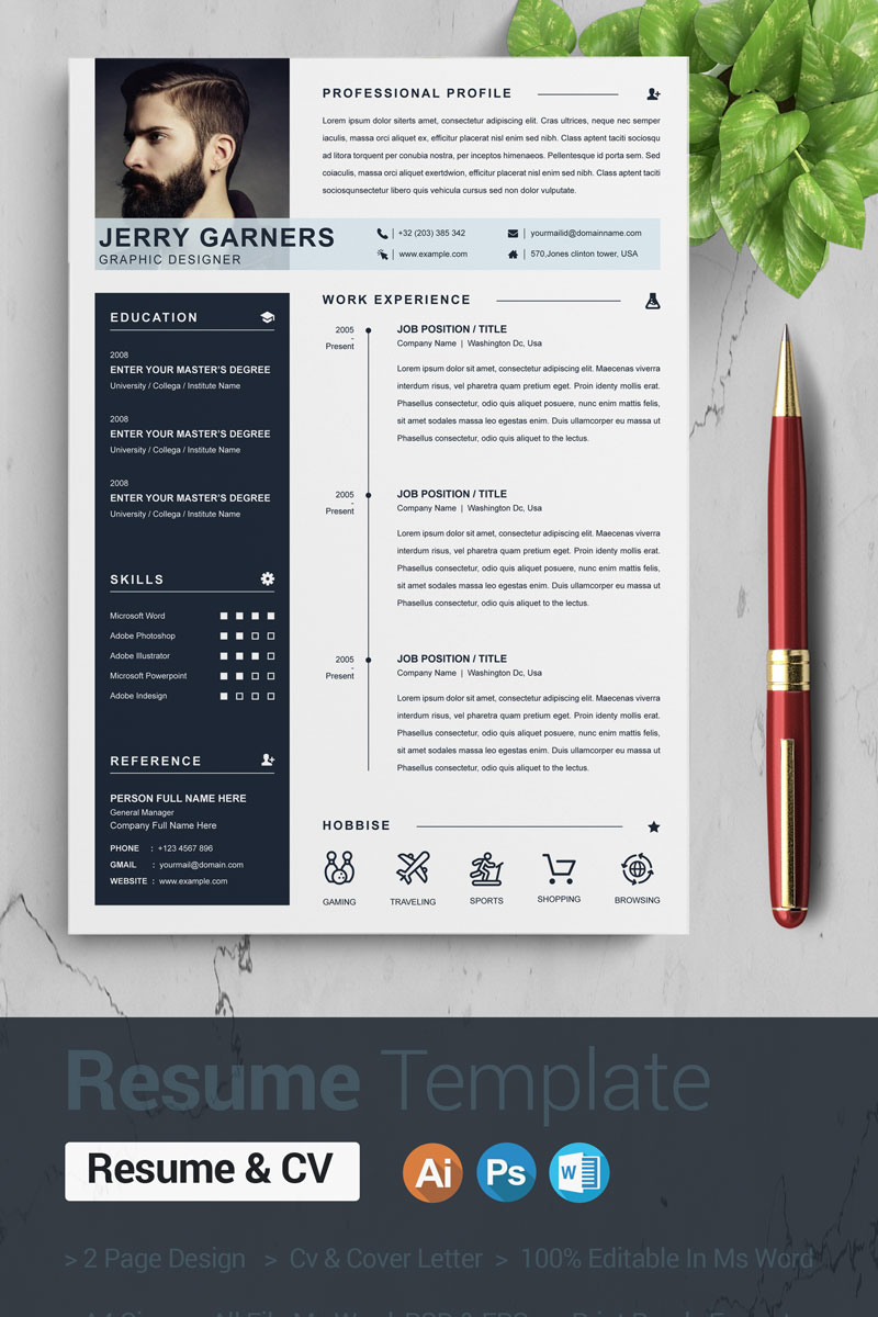"""Jerry"" CV Template №87573"
