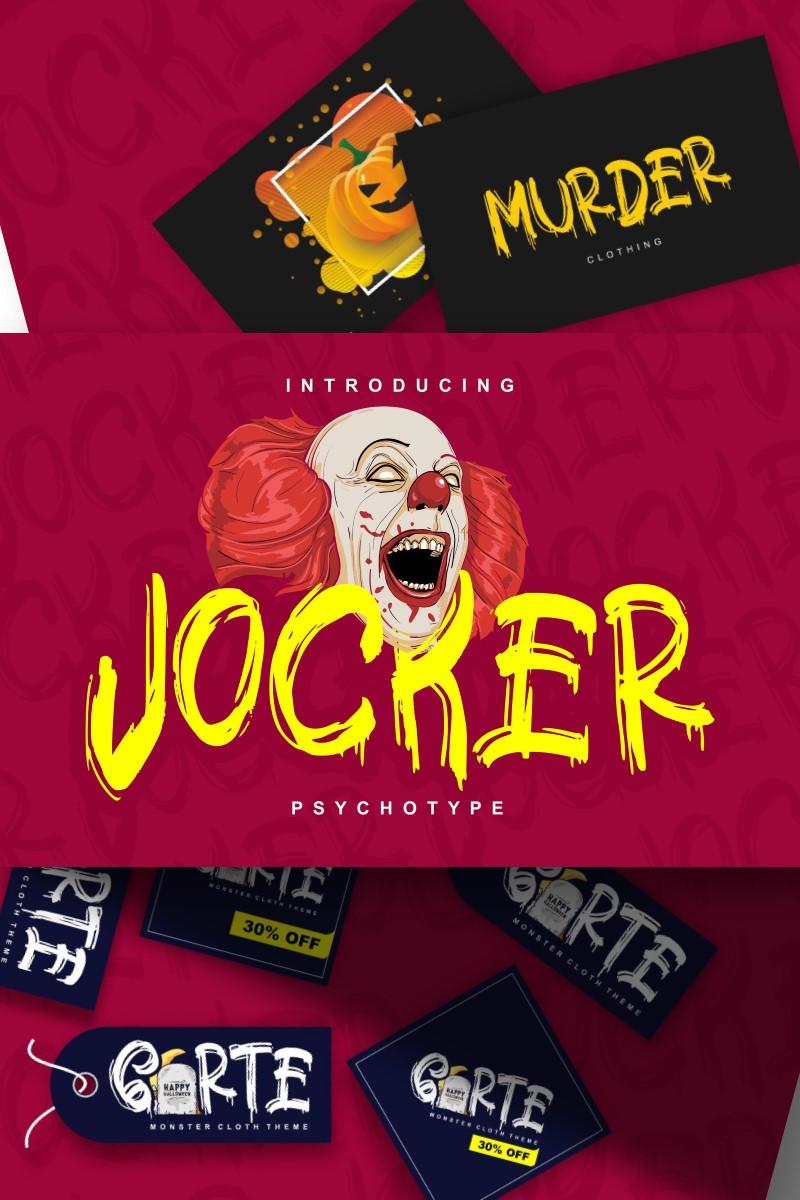 """Jocker | Psychotype  Theme"" police de caractère  #87578"