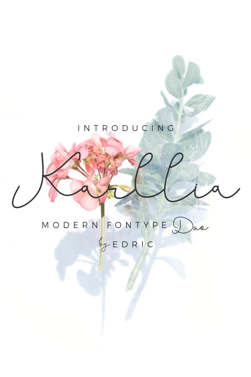 """""""Karllia"""" Lettertype №87576"""