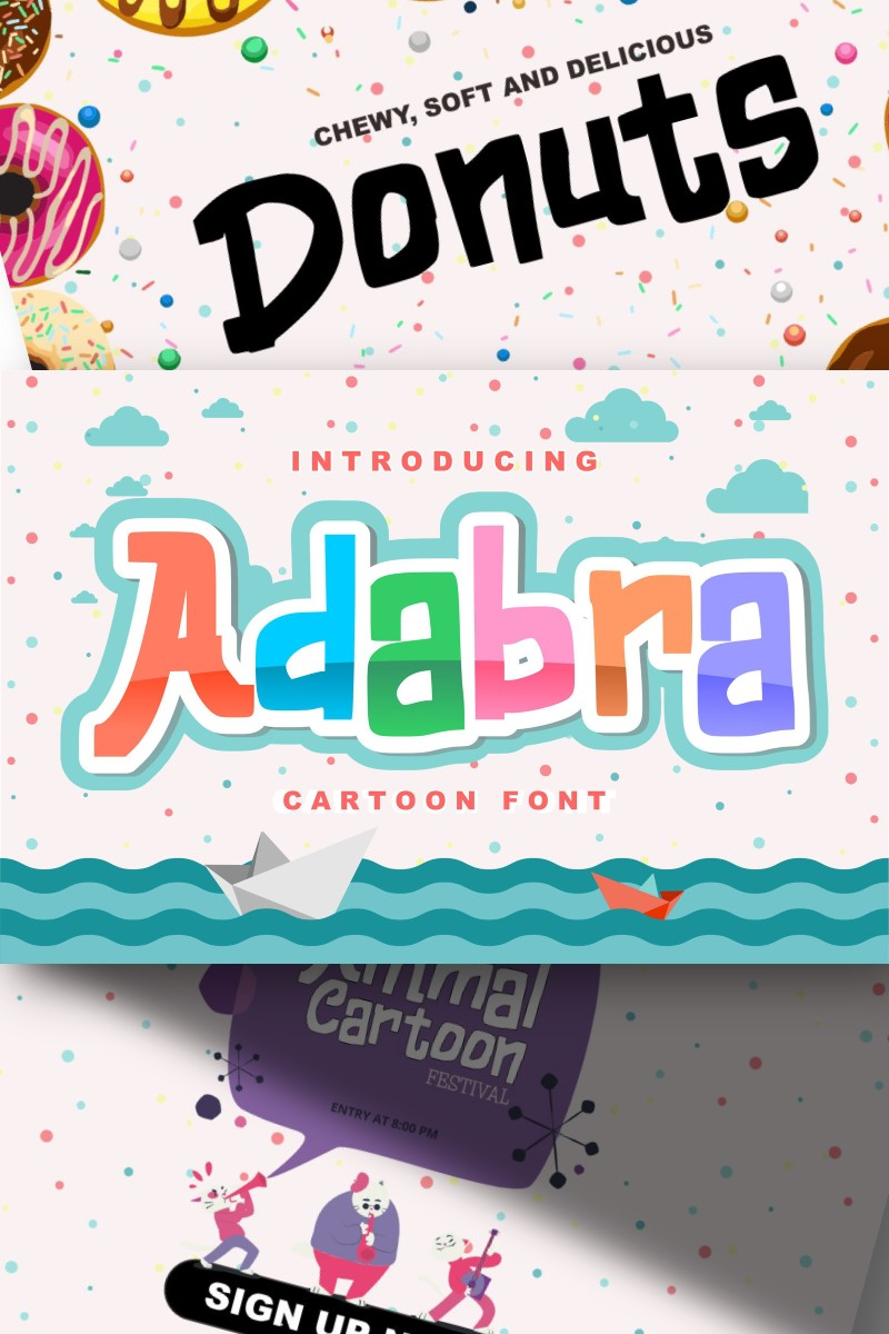 "Modello Font #87584 ""Adabra | Decorative Cartoon"""