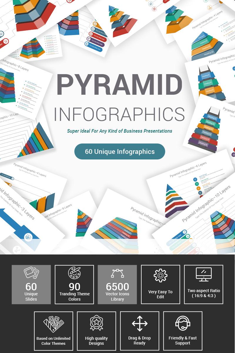 Prémium Pyramid Diagrams PowerPoint sablon 87599